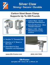 ZSi-Foster Silver Claw Beam Clamp